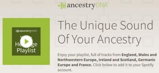 Ancestry Spotify Playlist