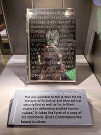 Winston Churchill's Nobel Peace Prize - Churchill War Rooms - London, UK - September 2018