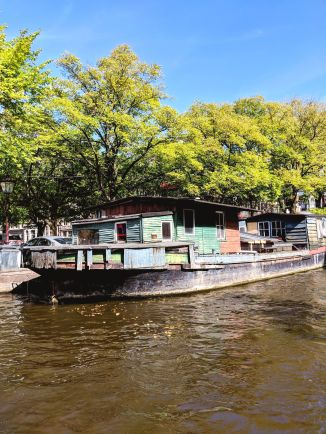 The oldest boat house in Amsterdam