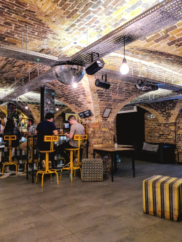 Underground Bar at Wombat's Hostel - London, UK