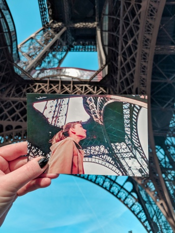 Audrey Hepburn at the Eiffel Tower in Funny Face - Paris, France
